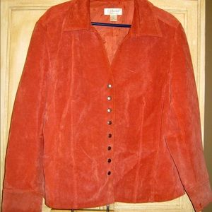 Coral leather jacket